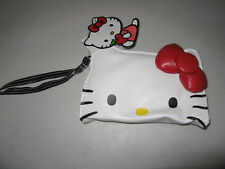 HELLO KITTY Cluth Sanrio Kitty Long Face Wristlet Wallet Bag with Red bow NEW