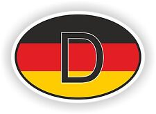 D Allemagne Autocollant OVAL avec drapeau allemand Voiture Caravane Pare-choc