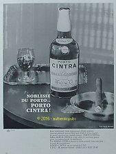 PUBLICITE PORTO CINTRA GRAND CORONA VIN APERITIF CIGARE DE 1960 FRENCH AD PUB