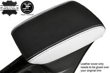 BLACK & WHITE LEATHER ARMREST COVER FITS VAUXHALL OPEL ASTRA K MK7 2016+