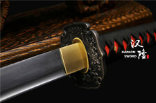 Japanese Samurai Sword 1095 Carbon Steel Blade Katana Battle Ready Warrior Tsuba