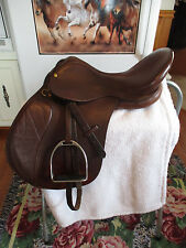17.5'' LANCER LEATHER  English  A/P Saddle MEDIUM/WIDE GULLET W LEATHERS & IRONS