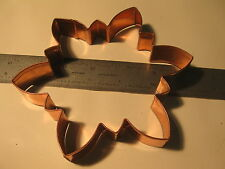 "1 pc Old River Road Snowflake Solid Copper Cookie Cutter New 5-1/2"" 1"" tall (31)"