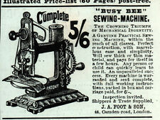 1887 AD  BUSY BEE SEWING MACHINE FOOT AND SON LONDON