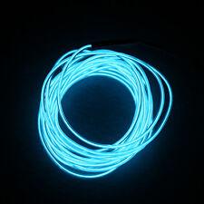 1/4/5m LED 12V Neon Light Glow EL Wire Rope Tube Car Decorative Light Strip NewL