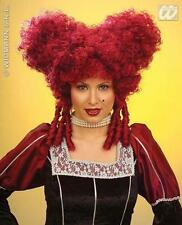 Burgundy Baroque Wig Noble Woman Ugly Sister Pantomime Fancy Dress