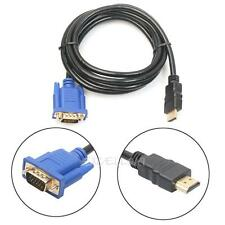 HDMI Gold Male To VGA HD-15 Male 15Pin Adapter Converter Cable 6FT 1.8M 1080P