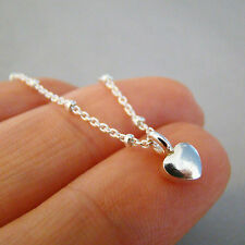 U&C Sundance 925 Sterling Silver Small Cute Tiny Heart - Big Love Chain Necklace