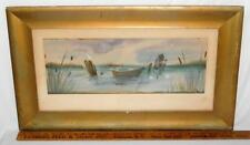 "Antique Seascape Framed Watercolor Painting Signed ""Howe"" C. 1900 Lot 147"