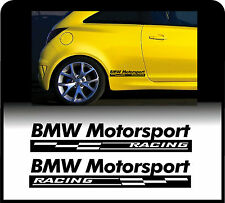 Para BMW 2 X PANEL de cuerpo Motorsport Racing cheques-Coche Decal Sticker Adhesivo
