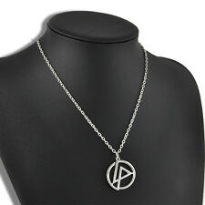 Vintage Retro Men's Linkin Park Bank Symbol Pendant Necklace long Chain Jewelry