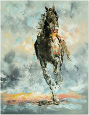 Run Horse - Hand Painted Palette Knife Abstract Oil Painting On Canvas