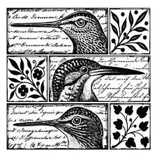 Crafty individuals quirky oiseaux non montés red rubber stamp