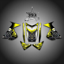 SKI-DOO RT Mach Z SNOWMOBILE SLED WRAP GRAPHICS DECAL KIT 05-09 GUARDIAN YELLOW