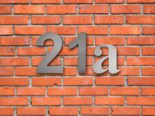 Hausnummer aus Edelstahl V2A Hausnummern VA Hausnummernschild Edel 15 cm