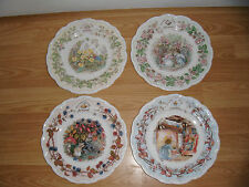 Royal Doulton Brambly Hedge Four Seasons 16 cms Plates ~ 1st Quality Excellent