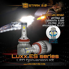 Stark 80W 9000LM Flip COB Chip LED Kit 6000K 6K Headlight Bulbs - H11 (E)