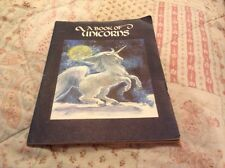 1978 A Book Of Unicorns Star & Elephant Book from The Green Tiger Press