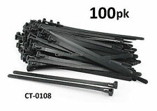 """100-PACK 8"""" Nylon Releasable/Reusable Cable Ties/ Cord Organizer, CT-0108"""