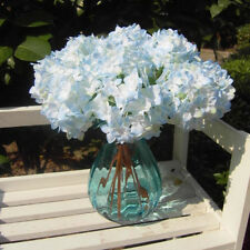 Light Blue Hydrangea Artificial Fake Flower Hotel Room Wedding Decoration