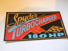 1962 - 1966 CHEVROLET CORVAIR SPYDER 180HP TURBOCHARGED AIR CLEANER LID DECAL