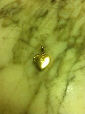 14k Gold Diamond Heart Locket Pendant