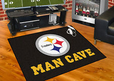 "Pittsburgh Steelers Man Cave 34""x45"" All-Star Area Rug Mat"