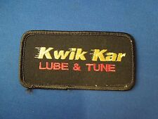 Kwik Kar Lube and Tune Uniform Advertising Embroidered Iron On Patch