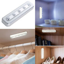 5-LED Tap Lights Self-Stick Under Cabinet Push Night Light Kitchen Closet Desk