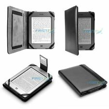 Premium Black Leather Case Cover & Slim Light NEW Kindle (2016, 8th Generation)