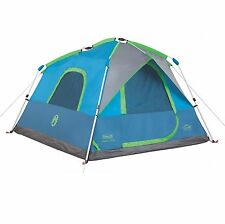 Coleman 4 Person 8'x7' Family Camping Instant Cabin Tent w/ WeatherTec & Rainfly