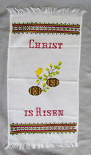 Ukrainian Embroidered Easter Basket Cover, Rushnyk,Towel,Christ is Risen,23 1/2""