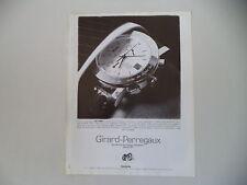 advertising Pubblicità 1990 OROLOGIO GIRARD PERREGAUX GP 7000