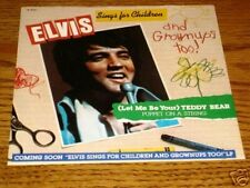 ELVIS Let Me Be Your Teddy Bear Picture Sleeve & 45 rpm