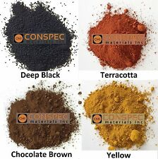 Colored Concrete Powder Mixed Lot RED BROWN BLACK YELLOW Pigment Dye Cement 8-oz