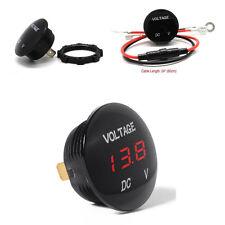 Car Motorcycle DC12V Mini Red LED Panel Digital Voltage Meter Display Voltmeter