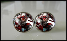 Captain Canuck Redesigned Folding Swing Arm Cuff links silver plated metal hero