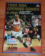 1994 NBA Basketball Opening Games in Japan On-Site Program-Clippers vs Blazers