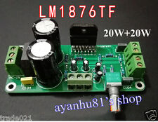 LM1876TF 20W+20W Dual Channel Stereo Audio Power Amplifier Board 20W*2 Amp