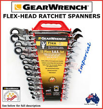 GEARWRENCH 13PC FLEX HEAD RATCHET SPANNER SET TRADE QUALITY TOOLS CRV SPECIAL