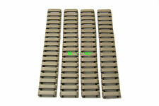 HKA 4pcs 18 slots Rubber RIS Handguard Covers set for 20mm Rail Airsoft (Tan)