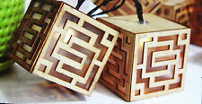 10 Piece LED Solar Wooden Maze Cube Lights - Designer Mood Lighting