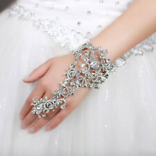 Women Hand Decor Bracelet with Ring Chain Ladies jewelry Wedding Bridal jewelry