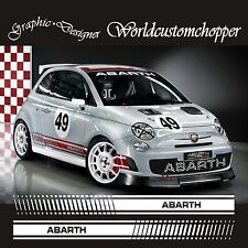 ADESIVI STICKERS KIT RACING FIAT 500 ABARTH CORSE SPORT RACING TUNING