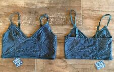 NWT Intimately Free People Lace Crop Bra Bralette Jewel Blue Small $38