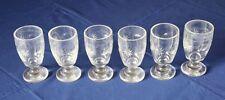6 Gläser Weinglas Biedermeier Glas mundgeblasen 19.J. Stern Kreis antik Mond