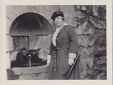 Vintage Antique Photograph Woman In Great Outfit Standing By Fire Place Pit