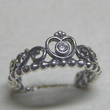Authentic Pandora 190880CZ My Princess Clear CZ Ring Size (8.5) 58 Bag Included