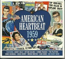 AMERICAN HEARTBEAT 1959 - 2 CD BOX SET - BUDDY HOLLY, CONNIE FRANCIS & MORE