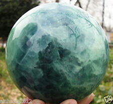 80-85mm +stand Glow In The Dark Stone crystal Fluorite sphere ball Iceland SPAR